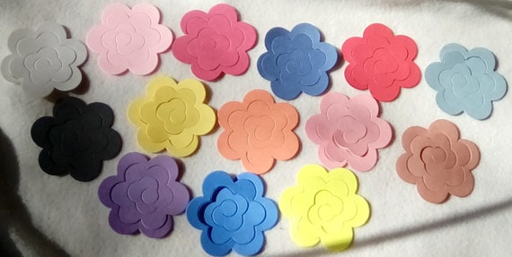 100 to 400 pieces random paper 3d flower die cut small and etsy image 0 mightylinksfo