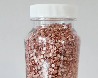2oz Rose Gold Sprinkles | Edible Sequins | Party Supplies | Cupcake Decoration | Wedding Cake Decorations