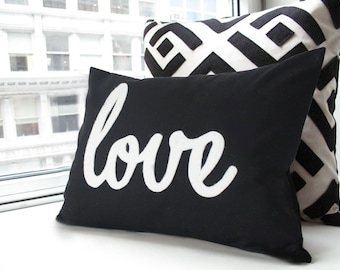 Black Love Pillow