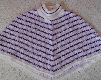 mod squad...vintage childrens knitted poncho