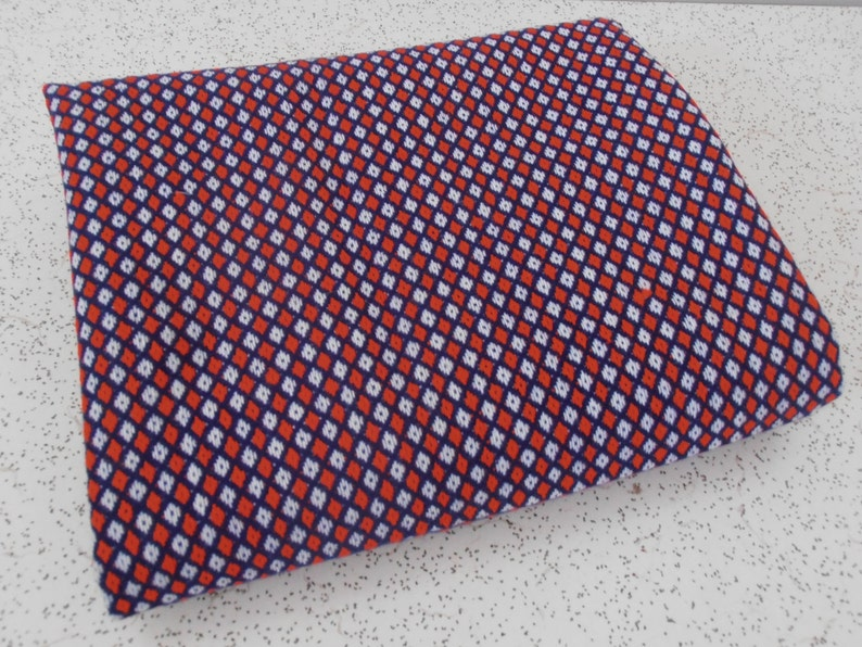 red white and blue...vintage bonded suiting fabric