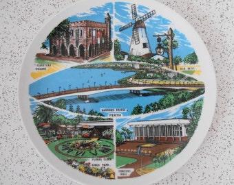 vintage souvenir of Perth Australia ceramic plate