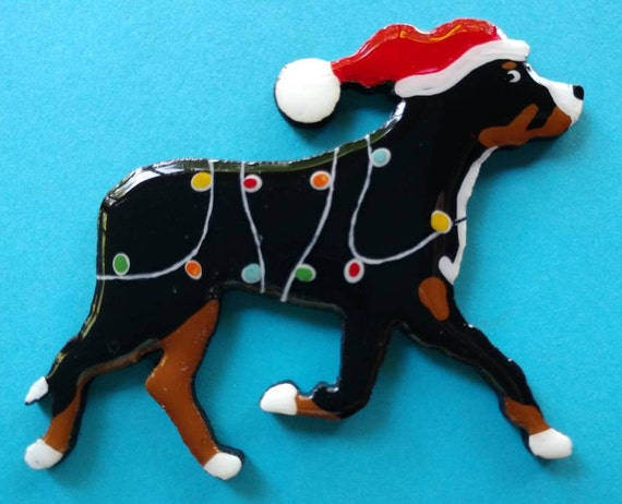 Rottweiler Christmas Ornament /& 2 FREE Magnets