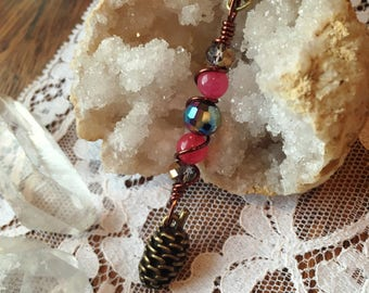 SALE! Winter Pinecone Pendant Necklace