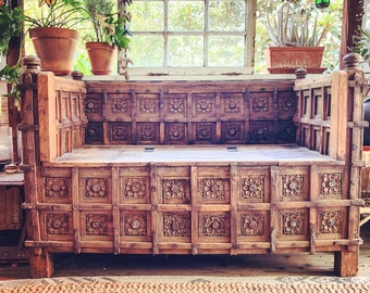 Antique Spanish Mission Daybed Or Bench