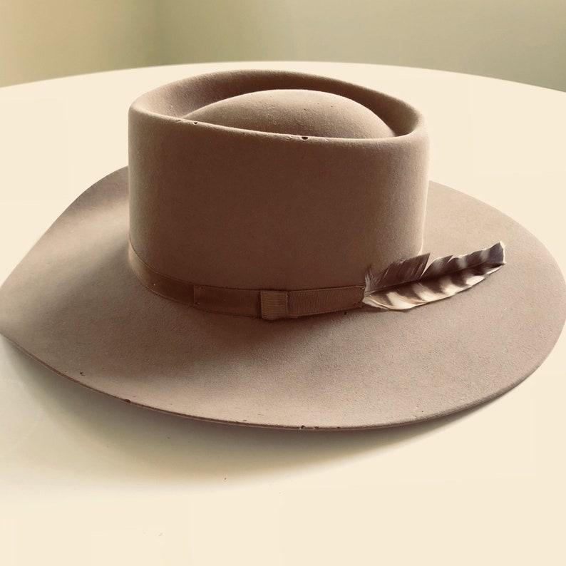 88114a1b0e0f7f Vintage 1940s / 1950s Stetson Gambler 4X Beaver Cowboy Hat | Etsy