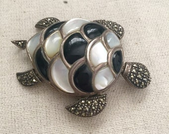 Really Neat Vintage Turtle Pendant and or Brooch