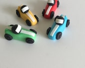 Items Similar To Car Cupcake Toppers Fondant Toppers Race Car
