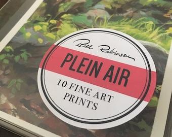 Plein Air Print Set   10 5x7 Art Prints   Landscape Painting   Flimflammery