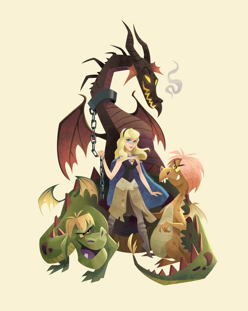 Game of Thorns  Disney/Game of Thrones Mashup  Fine Art image 0
