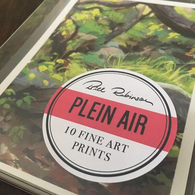 Plein Air Print Set  10 5x7 Art Prints  Landscape Painting  image 0