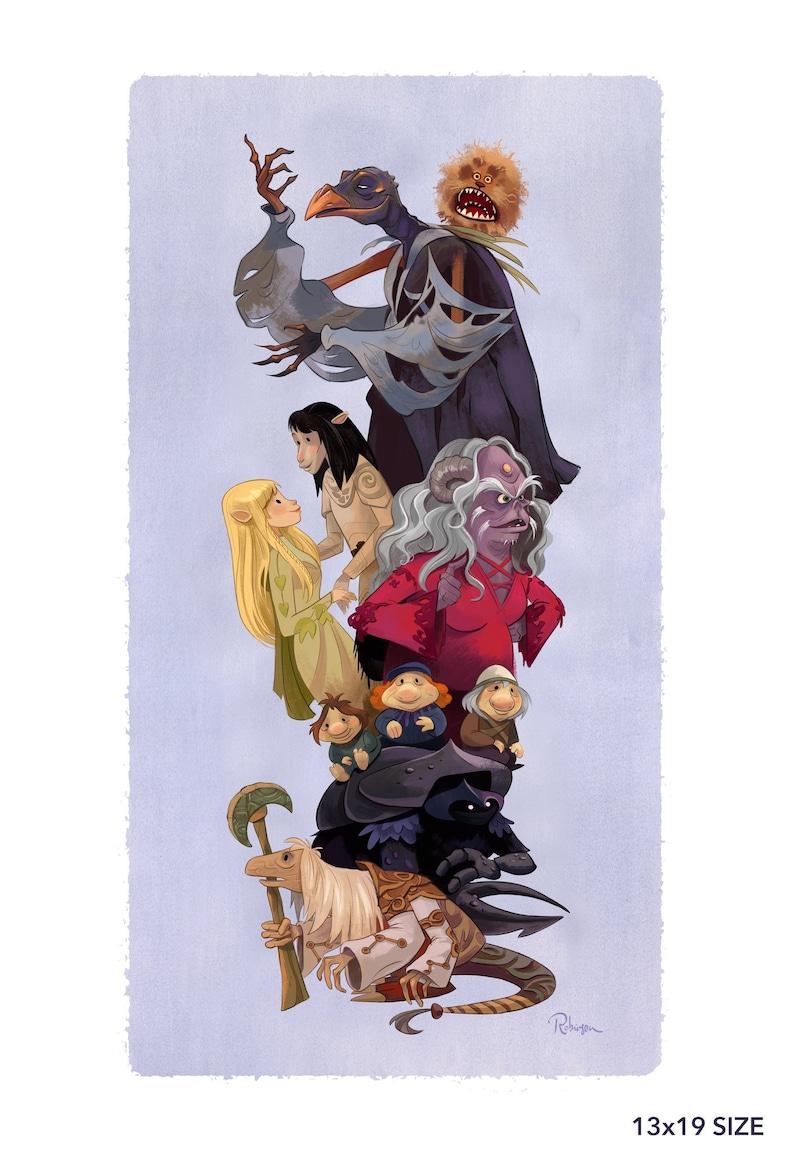 Dark Crystal Tribute  Fine Art Print  6x12  11x14  13x19  image 0