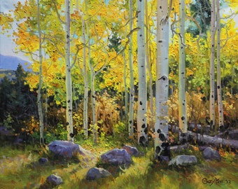 Have you ever wanted to own a Large Aspen Birch Tree Oil Painting Art for your home or office in a bigger or smaller size than the original?