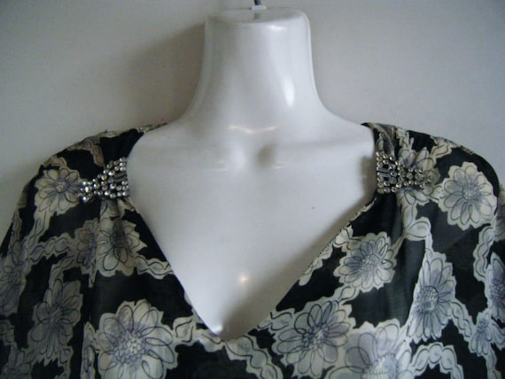 late 30s early 40s party dress with rhinestone dre