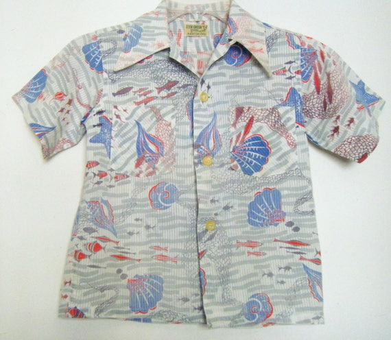 Vintage 1950s DEER CREEK Brand HAWAIIAN Shirt, loo
