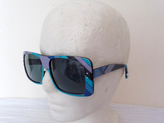 EMILIO PUCCI 1960's Oversize Sunglasses and origi… - image 9