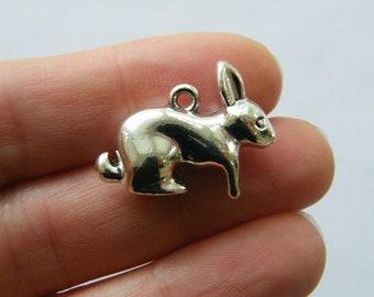BULK 50 Rabbit charms  tibetan silver A243