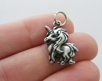 1 Dolphin charm dark silver tone stainless steel FF339