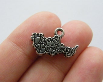 4 Gift or present charms antique silver tone CT168