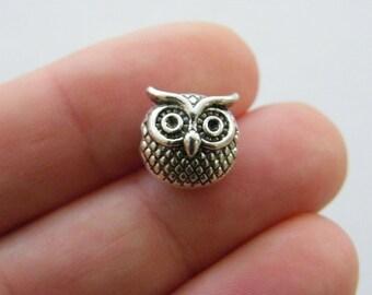 Owl Charms 2 pc Owl charm Owl face charm wholesale charm