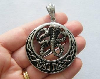 SC6783 6 Snake Charms Antique Silver Tone Cobra