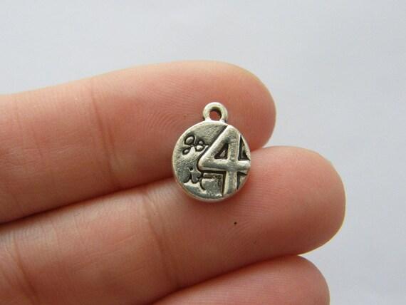 16 wishbone charms antique ton argent M251