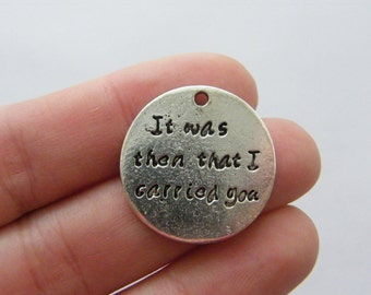 4 It was than that I carried you charms antique silver tone M780