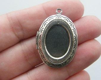 1 Locket pendant antique silver tone FS240