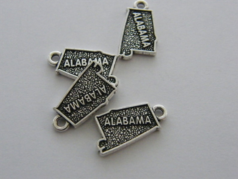 BULK 20 Alabama charms antique silver tone WT155