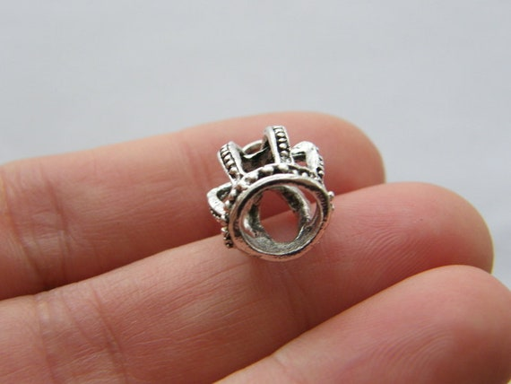 BULK 5 Fairy pendants antique silver tone FB55