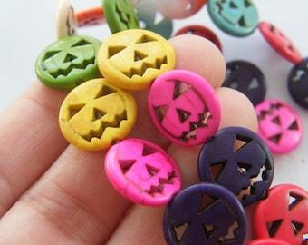 26 Mixed pumpkin jack o lantern beads SK2