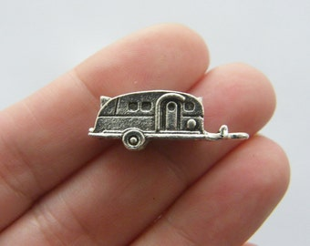 4 Caravan charms antique silver tone TT69