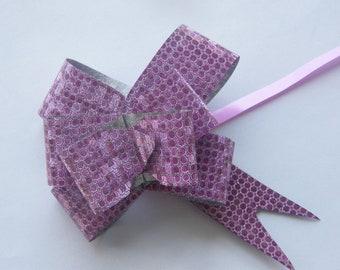 10 Ribbon purple dot