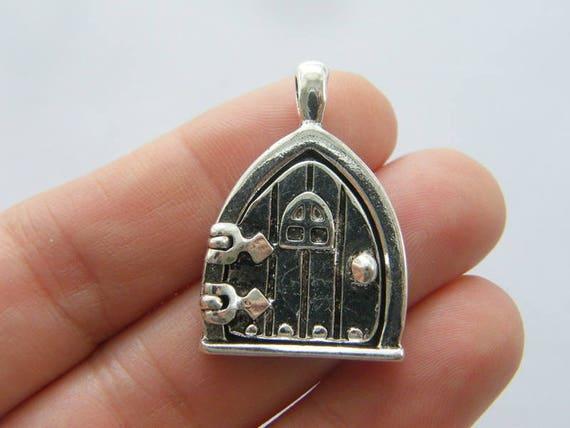 5 fées porte médaillon pendentif argent vieilli ton P472 en vrac