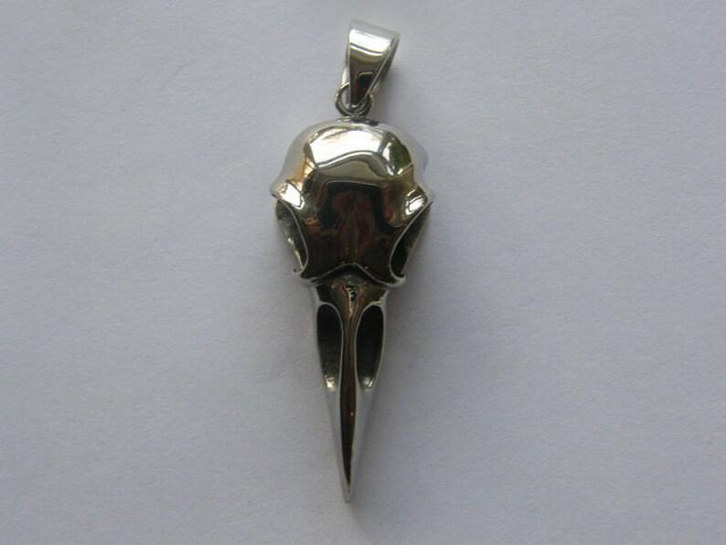 1 Bird skull charm stainless steel B170