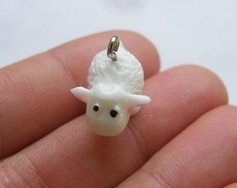 2  Sheep resin charms A968