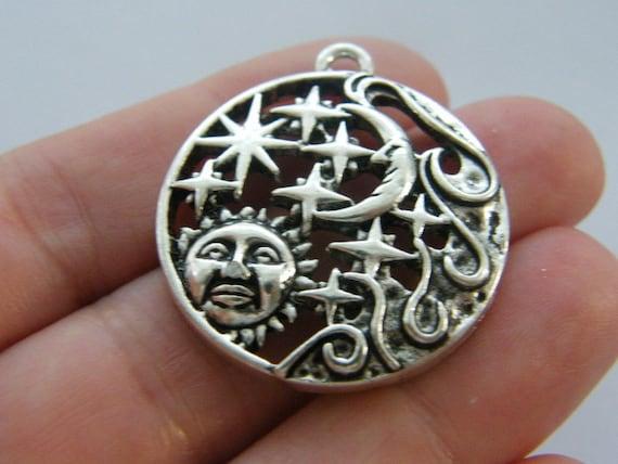 4 You/'ve got mail charms antique silver tone PT48
