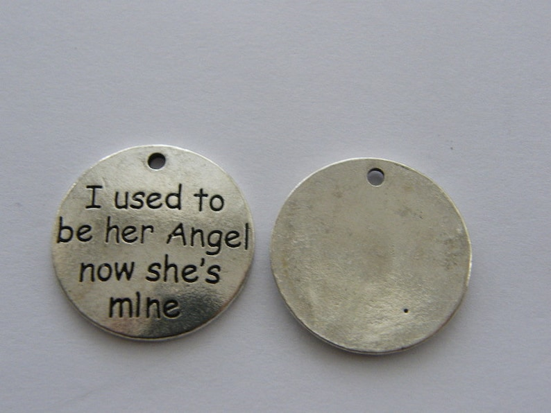 BULK 10 I used to be her Angel now she/'s mine charms M660