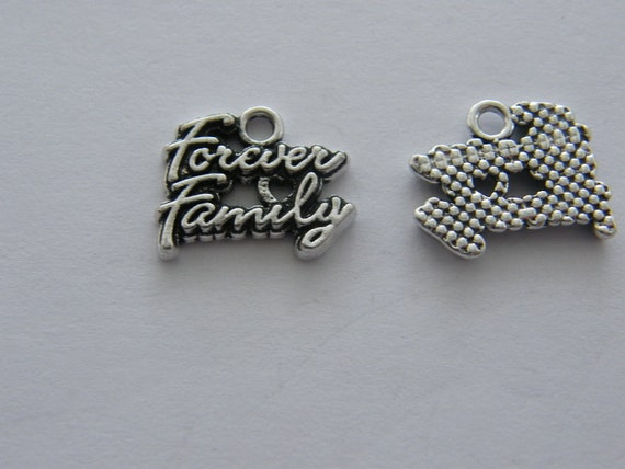 4 No longer by my side but forever in my heart  charms antique silver tone M922