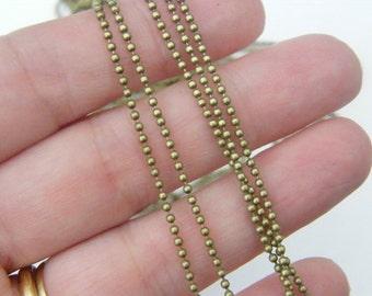 10m Ball chain 1.5mm bronze tone FS431