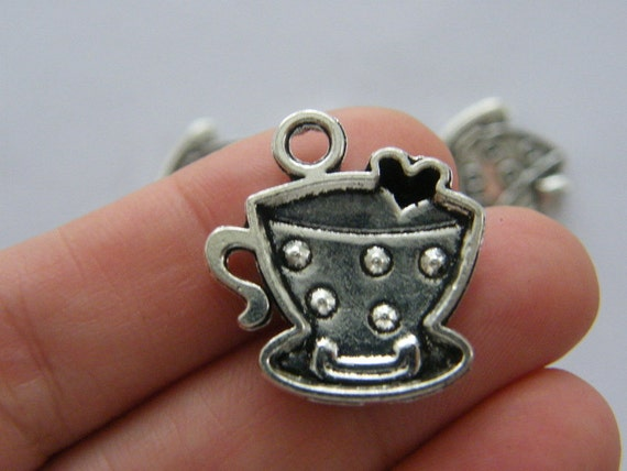 200 Antiksilber Würbel Spacer Perlen Beads 4x4mm