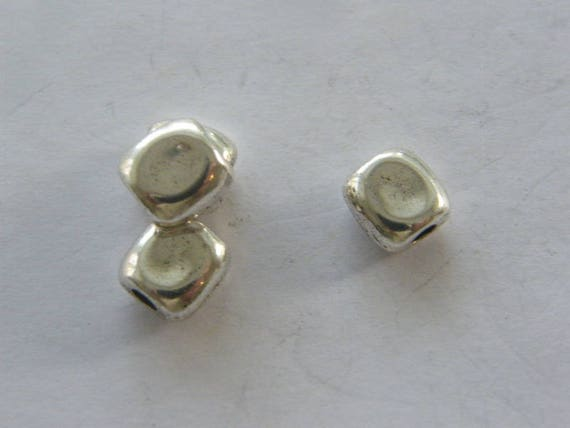 50 Spacer ring  beads antique silver tone FS269