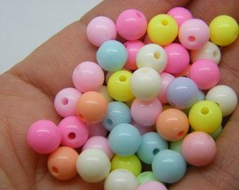 100 Beads random mixed 8mm acrylic BB794