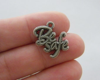 4 Be Safe charms antique silver tone M523