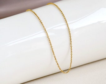 Gold simple necklace, gold chain necklace, delicate gold necklace, necklace for pendants