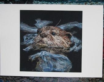 Otter Fine Art Giclee print