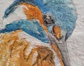 Kingfisher Mixed Media Art