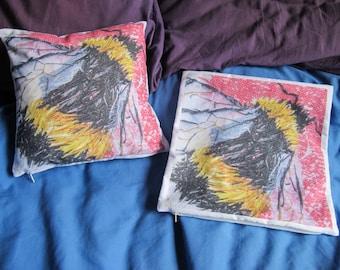 Bumblebee Art Design Cushion Cover