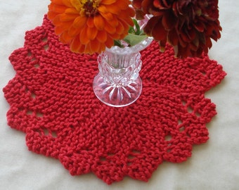 Knit Dishcloth Washcloth Doily unique round - Best ever