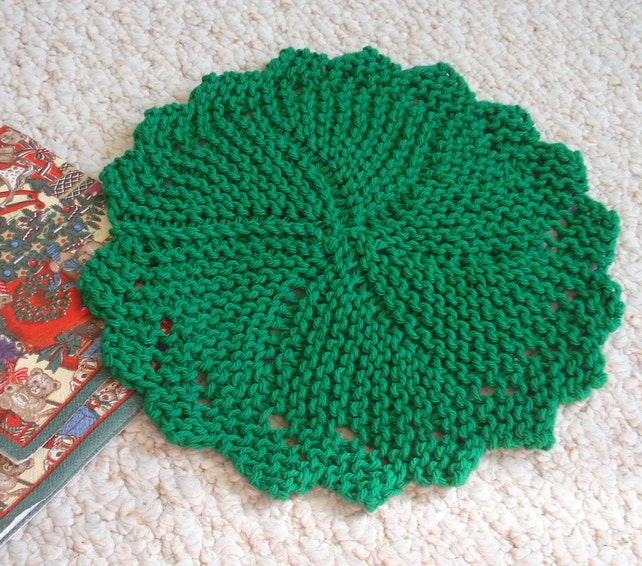 Pdf Dishcloth Pattern For Hand Knit Heirloom Round Dishcloth Etsy